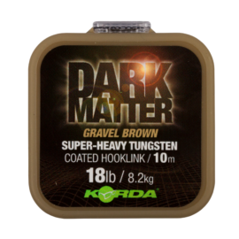Korda Dark Matter Tungsten Coated Braid Gravel Brown Bevonatos Előkezsinór