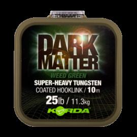 Korda Dark Matter Tungsten Coated Braid Weed Green Bevonatos Előkezsinór