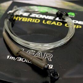 Korda Kamo Leader Hybrid Lead Clip Clear Előtét Zsinór (40lb/1m)