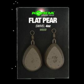 Korda Flat Pear Swivel Blister Ólom (2db)
