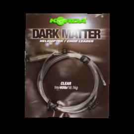 Korda Dark Matter Helicopter / Chod Leader Ólmos Előtét Zsinór (40lb/1m)