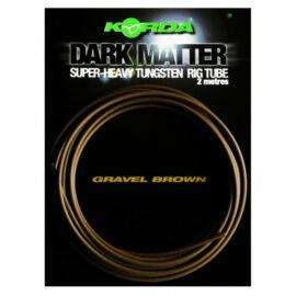 Korda Dark Matter Tungsten Tubing Gravel/Brown Ólom Gubancgátló Cső