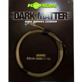 Korda Dark Matter Leader Ring Swivel Előtét Zsinór Forgóval (40lb/50cm)
