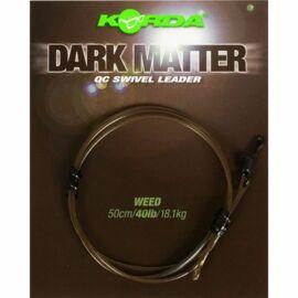 Korda Dark Matter Leader QC Swivel Előtét Zsinór Gyorskapoccsal (40lb/50cm)