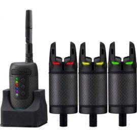 Prologic K3 Bite Alarm Set 3+1 Kapásjelző Szett (Zöld,Sárga,Piros)