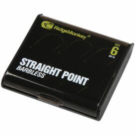 RidgeMonkey RM-Tec Straight Point Hook Pontyozó Horog