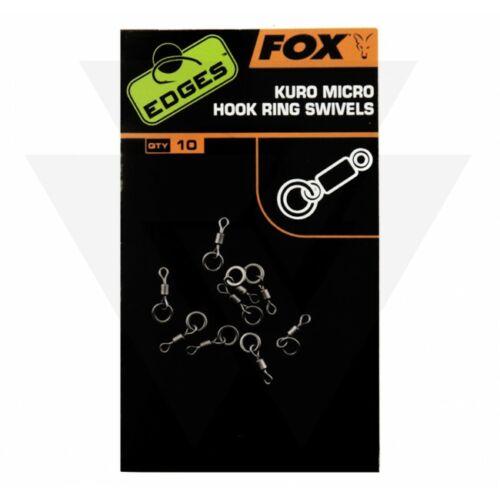 FOX Edges Kuro Micro Hook Ring Swivels Mikro Horog Forgókapocs