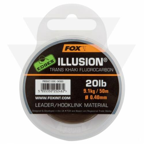 FOX Edges Illusion Flurocarbon Leader Előkezsinór