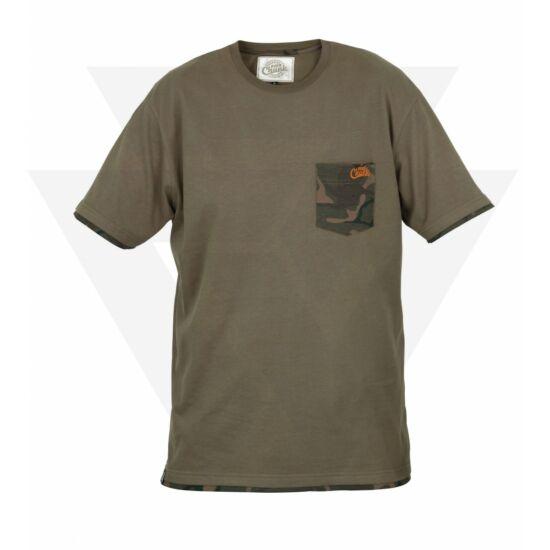 6ccc75fa92 FOX Chunk T-Shirt Khaki Camo Pocket Póló