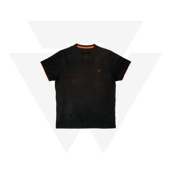 FOX Black   Orange Brushed Cotton T-shirt Póló 88994cf743