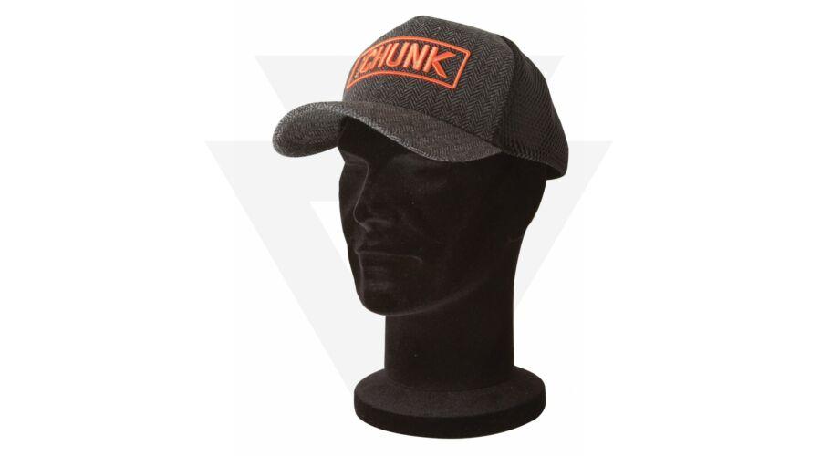FOX Chunk Black Grey Twill Trucker Cap Sapka 72fde07a03