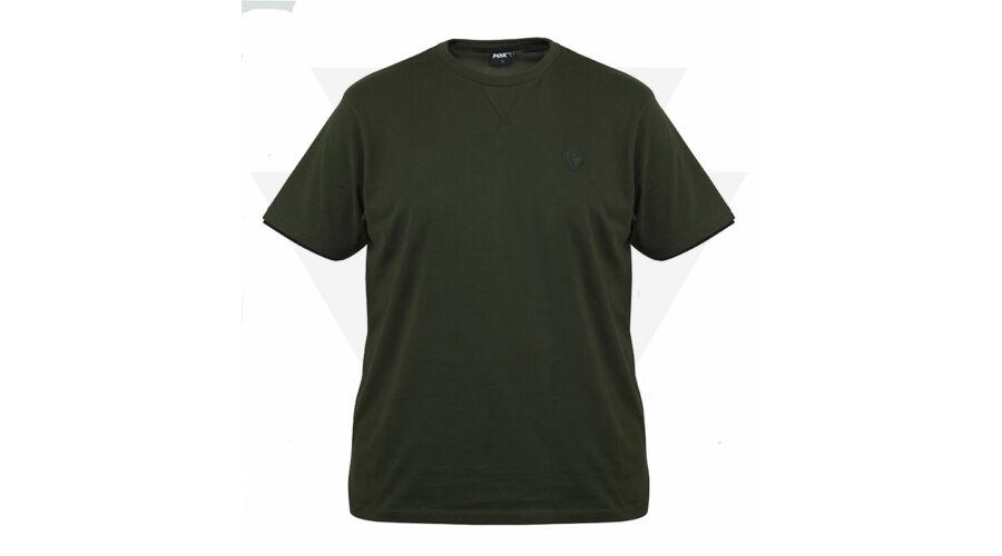 FOX Green   Black T-Shirt Rövid Ujjú Póló 1d6c5ae206