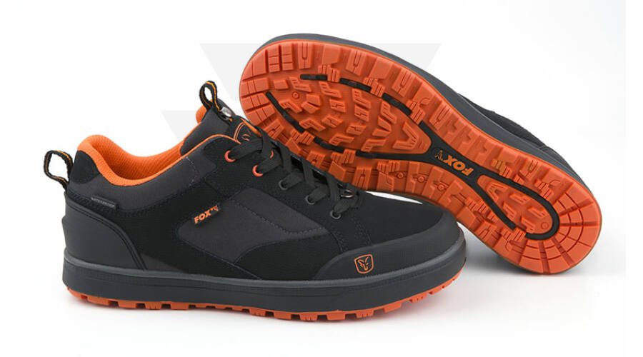 FOX Black   Orange Trainers Vízhatlan Cipő 1b94bd389c
